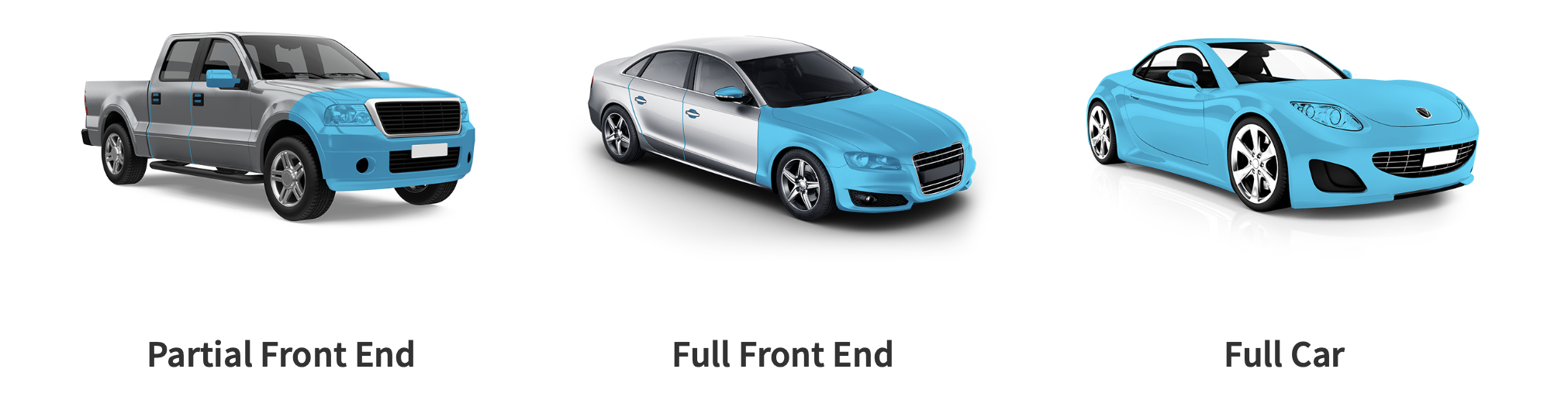 Auto Painting for Partial Front End, Full Front End, or Full Car Protection